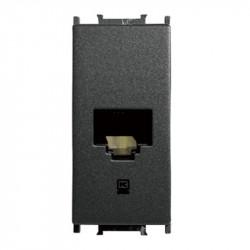 Priza calculator RJ45 1 modul Thea Modular Panasonic, Neagra