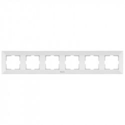 Sorolókeret 6 modul, vízszintes, Arkedia Panasonic, fehér
