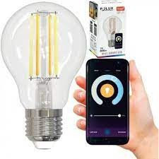 Tuya Wi-Fi Smart LED izzó, 5,5 W (35 W), 3 az 1-ben (2700K-4000K-6500K) szabályozható lámpatest, Polux, Polux