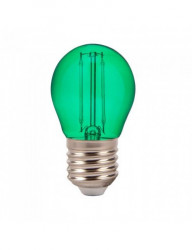 Vintage dekoratív led izzó, E27, G45, 2W (10W), A +, zöld, V-TAC