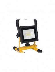 20W-os LED reflektor akkumulátorral, IP44 védelem, hideg fény, Optonica