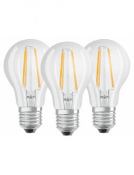 3 db LED-izzó készlet Osram A60, E27, 7W (60W), 806 lm, meleg fény