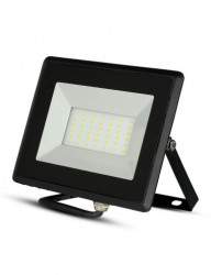 30 W-os LED projektor, 2550 lm, hideg fény, fekete, V-TAC