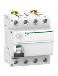 Automatikus kismegszakító differenciálvédelemmel 25A 3P + N, AC típusú, 30mA, 10kA, Schneider