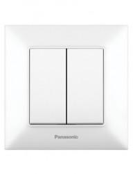 Csillárkapcsoló, 10A, IP20, fehér, Panasonic Arkedia Slim