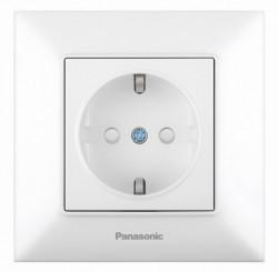 Egyszerű aljzat földeléssel és gyermekvédelemmel Arkedia Pansonic, ST, fehér