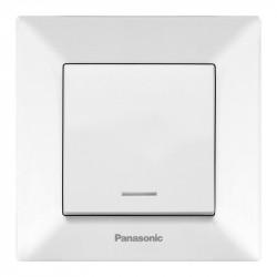 LED egypólusú kapcsoló, Arkedia Panasonic, ST, fehér