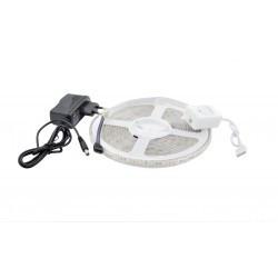 LED szalag készlet 5050 IP65 RGB 60 LED / méter 5 méter + tápegység + bluetooth vezérlő
