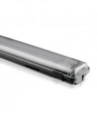 LED test 2x18W vízálló IP65, csővel együtt, 3400 lumen, hideg fény, 6400K