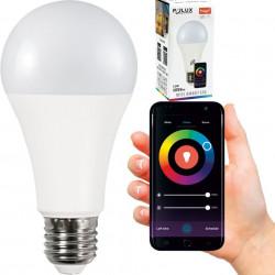 Tuya Wi-Fi intelligens LED izzó, 11 W (75 W), 4 az 1-ben (2700K-4000K-6500K-RGB), Polux