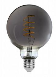 Vintage LED izzó, csavart szál, G95, 5W (21W), 200 lm, füstös, Rabalux