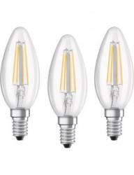 3 db LED-izzó készlet Osram B40, E14, 4W (40W), 470 lm, hideg fény