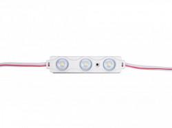 3 LED modul, 0,72 W, 12 V, IP65, meleg fény 3000K, 58x12mm, Optika