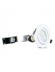 3db kerek spotlámpa + LED izzó GU10 5W tartozék, természetes fehér fény, állítható, fehér, IP20, V-TAC