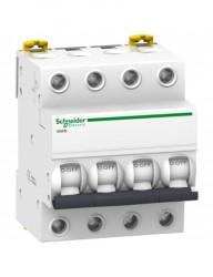 Automatikus kismegszakító 4P, 50A, C kioldási jelleggörbék, megszakító-képesség 4,5 kA, Schneider