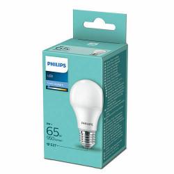 Bec LED Philips, E27, 9W(65W), 950 lm, A++, lumina rece(6500 K)