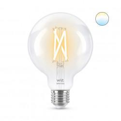 Bec LED smart vintage WiZ, forma G95, Wi-Fi, dulie E27, 6.7W (60W), 806 lm, temperatura lumina reglabila (2700K-6500K), compatibil Google Assistant/Alexa/Siri