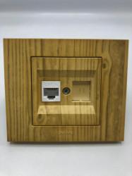 Egyszerű számítógép aljzat cat 6, Ovivo Grano, juhar