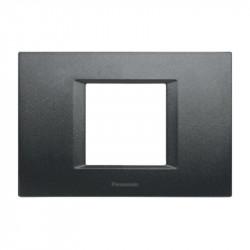 Keret, 2/3 modulos, Thea Modular Panasonic, fekete