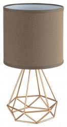 Kinga asztali lámpa, E14 foglalat (max. 40W), bézs-arany, Rabalux