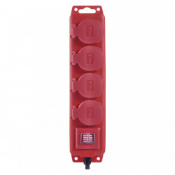 Kültéri hosszabbító, 4 aljzat, 10 méter, IP44 védelem, 3x1,5 gumikábel, Emos