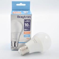 LED izzó 10W A60 E27, Braytron, hideg fény