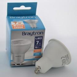 LED izzó GU10 7W 120 fokos, Braytron, hideg fény