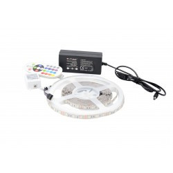 LED szalag készlet 5050 IP20 RGB 60 LED / méter 5 méter + tápegység + vezérlő