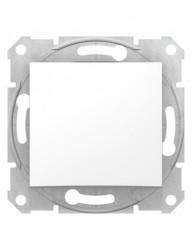 Nyomókapcsoló 10A, IP 20, fehér, Schneider Sedna