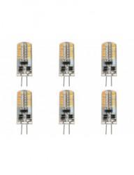 Set 6 becuri led G4, 4W(40W), 12V, 380 lm, A+, lumina calda, Lumiled