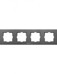 Sorolókeret 4 modul, vízszintes, IP20, grafit, Panasonic Arkedia Slim