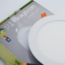 Spotlámpa LED 15W-os kerek 6400K, süllyesztett, Braytron