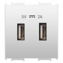 USB aljzat 2A 5V, 2 modul, fehér, Panasonic Thea Modular