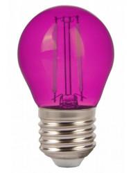 Vintage dekoratív led izzó, E27, G45, 2W (10W), A +, rózsaszín, V-TAC