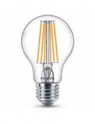 Vintage LED izzó, E27.8W (75W), meleg fény, 1055 lm, A, Philips