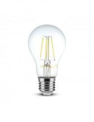 Vintage led izzó, Samsung chip, E27, 6W (60W), meleg fény, 806 lm, A +, V-TAC