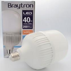 40W T120 E27 led izzó, Braytron, hideg fény