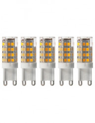 5 db G9 led izzó, 5W (40W), 470lm, A +, hideg fény, Lumiled