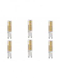 6 db G9 led-izzó, 7W (60W), 665lm, A +, meleg fény, Lumiled