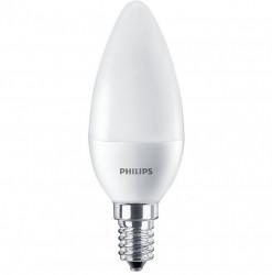 Bec LED Philips, E14, 7W (60W), 806 lm, lumina alba calda(2700 K)