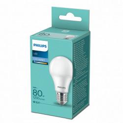 Bec LED Philips, E27, 11W(80W), 1250 lm, A++, lumina rece(6500 K)