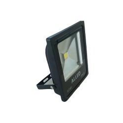 LED projektor 50W COB IP65 6500K, fekete, Alled