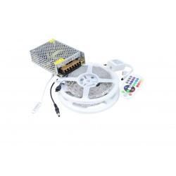 LED szalag készlet 5050 IP20 RGB 60 LED / méter 10 méter + tápegység + vezérlő