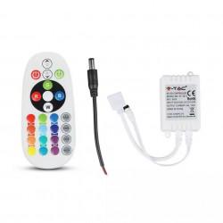 LED vezérlő, 24 gomb, RGB 6A 72W
