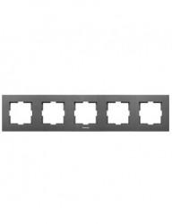 Sorolókeret 5 modul, vízszintes, IP20, grafit, Panasonic Arkedia Slim