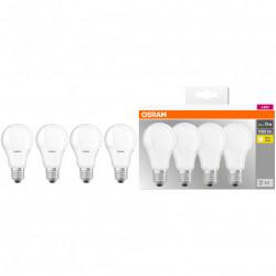 4 db Osram LED-izzó készlet, E27, 10 W (75 W), 1055 lm, meleg fény (2700K)