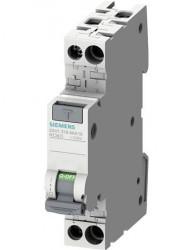 Automatikus kismegszakító differenciálvédelemmel, 10A P + N, AC típus, 30mA, 4.5kA, Siemens