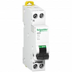 Automatikus kismegszakító P N, 16A, B kioldási jelleggörbék, megszakító-képesség 4.5 kA, Schneider