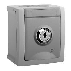 Egyszerű aljzat kulccsal IP54 Pacific Panasonic, PT, szürke