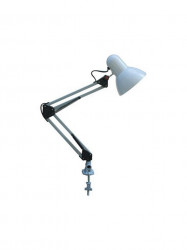 Fehér fém asztali lámpa, 1xE27 izzó foglalat, legfeljebb 60 W, Horoz Electric